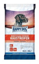 Жевательные полоски для собак Happy Dog Kaustreifen с индейкой, 20*10 г